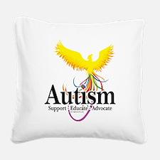 Autism-Phoenix Square Canvas Pillow