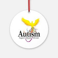 Autism-Phoenix Round Ornament