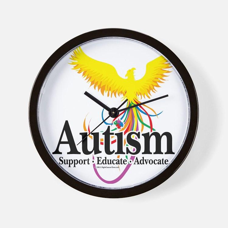 Autism-Phoenix Wall Clock