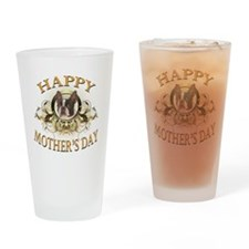 Happy Mothers Day Boston Terrier Drinking Glass