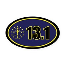 INDY-131-OVALsticker Oval Car Magnet