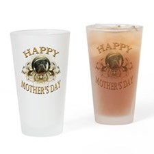 Happy Mothers Day Rottweiler3 Drinking Glass