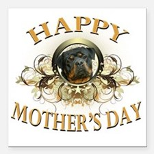 """Happy Mothers Day Rottwe Square Car Magnet 3"""" x 3"""""""
