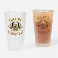 Happy Mothers Day Bichon Frise Drinking Glass