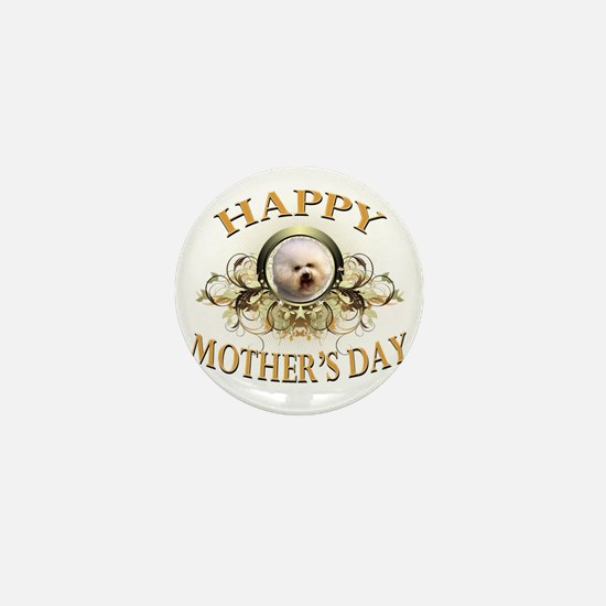 Happy Mothers Day Bichon Frise Mini Button