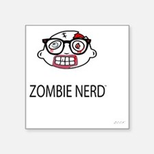 "Original Zombie Nerd TM Square Sticker 3"" x 3"""