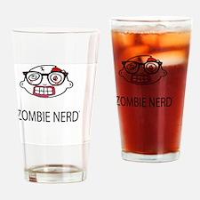 Original Zombie Nerd TM Drinking Glass