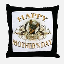 Happy Mothers Day Min Pin Throw Pillow