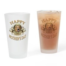 Happy Mothers Day Golden Retriever Drinking Glass