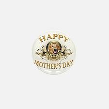 Happy Mothers Day Golden Retriever Mini Button