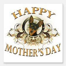 """Happy Mothers Day Min Pi Square Car Magnet 3"""" x 3"""""""