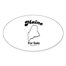 Maine - For sale Oval Decal