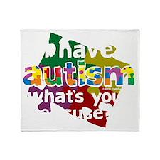 I-Have-Autism-blk Throw Blanket