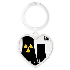 Nuclear reactor FAIL-black Heart Keychain