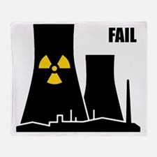 Nuclear reactor FAIL-black Throw Blanket