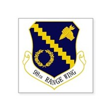 "98th Range Wing Square Sticker 3"" x 3"""