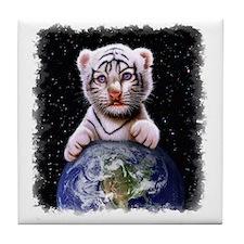 Tiger Cub on Earth Tile Coaster