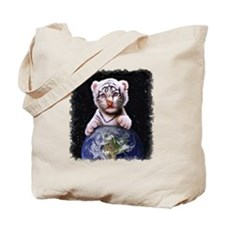 Tiger Cub on Earth Tote Bag