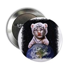 "Tiger Cub on Earth 2.25"" Button"