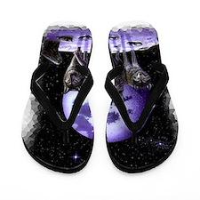 Wolf pack on Moon Flip Flops