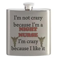 Im Not Crazy - NIGHT Nurse Flask