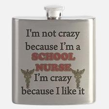 Im Not Crazy - SCHOOL Nurse Flask
