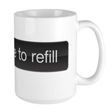 slide to refill Mug