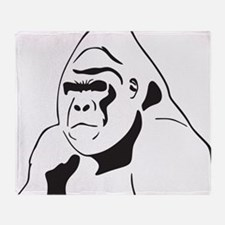 gorillaJPG Throw Blanket