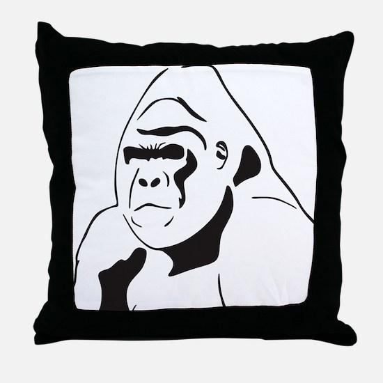 gorillaJPG Throw Pillow