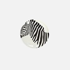 Zebra Mini Button