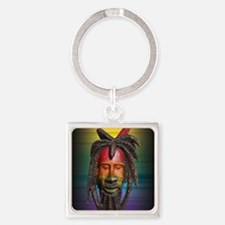 NATTY_DREAD_RASTAMAN_78_IPAD_SPECT Square Keychain