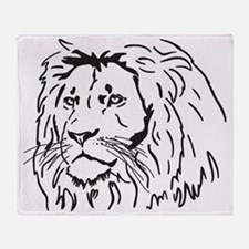 lionJPGthick Throw Blanket