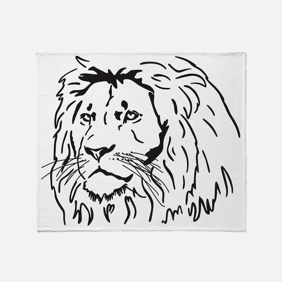 lionJPGthick Throw Blanket