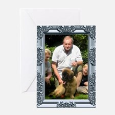 Custom silver baroque framed photo Greeting Card