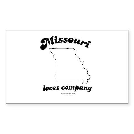 Missouri - Loves company Rectangle Sticker