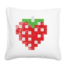 strawberry_award Square Canvas Pillow