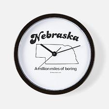 Nebraska - a million miles of boring Wall Clock