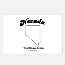 Nevada - you'll leave broke Postcards (Package of