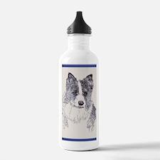 Border_Collie_KlineZ Water Bottle