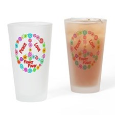 flowerpower Drinking Glass