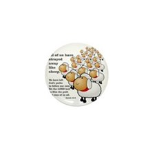Isaiah_53_sheep Mini Button