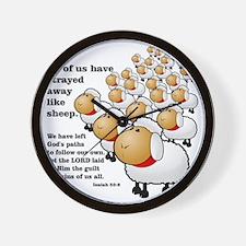 Isaiah_53_sheep Wall Clock