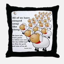 Isaiah_53_sheep Throw Pillow