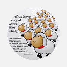 Isaiah_53_sheep Round Ornament