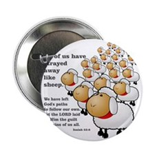 "Isaiah_53_sheep 2.25"" Button"
