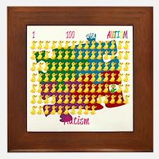 Autism-1-out-of-100-blk Framed Tile