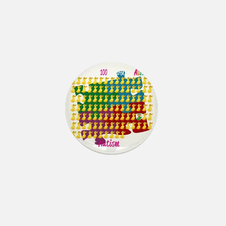 Autism-1-out-of-100-blk Mini Button