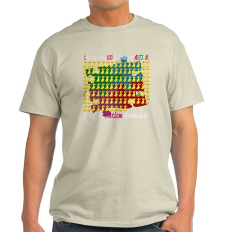 Autism-1-out-of-100-blk Light T-Shirt