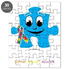 autism-cartoon--blk Puzzle