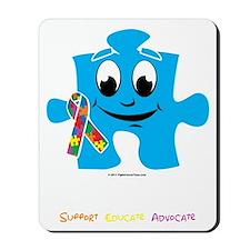 Autism-Cartoon-Puzzle-blk Mousepad